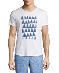 Orlebar Brown Ob T Athabasca Tailored Fit Crewneck T Shirt White Navy