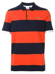 Lacoste Live Striped Polo Shirt Yellow And Orange