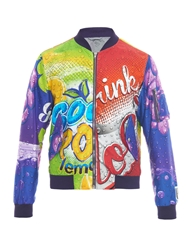 Moschino Soda Pop Print Twill Bomber Jacket