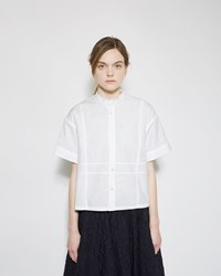 Julien David Washed Cotton Shirt White