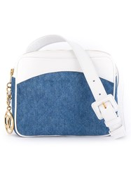 Chanel Vintage Panelled Denim Bum Bag Blue