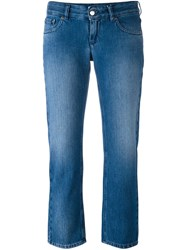 Maison Martin Margiela Mm6 Cropped Jeans Blue