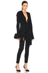 Tome Tie Front Drape Top In Black