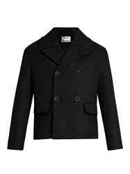 Acne Studios Merge Double Breasted Wool Coat Black
