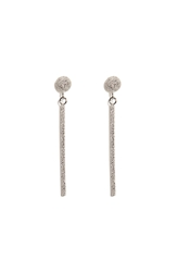 Carolina Bucci 18K White Gold Mirador Sparkly Stud Drop Earrings