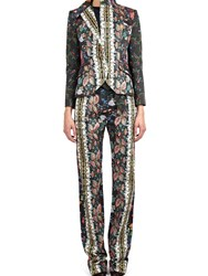 Alexis Mabille Jacket In Folk Printed Cotton Blue