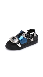 Toga Pulla Buckle Slide Sandals Black