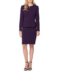 Tahari By Arthur S. Levine Skirt And Peplum Suit Set French Purple