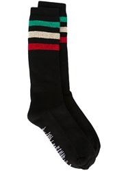 Palm Angels Triple Striped Socks Black