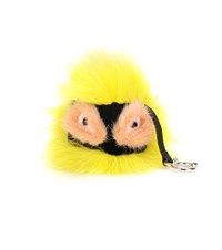 Fendi Bag Bugs Charm With Fox Mink And Rabbit Fur Yellow