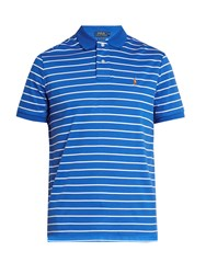 Polo Ralph Lauren Slim Fit Striped Pima Cotton Shirt Blue White
