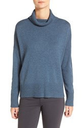Eileen Fisher Women's Wool Blend Jersey Turtleneck Sweater Fir