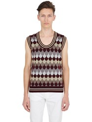 Gucci Lurex Wool Blend Jacquard Tank Top