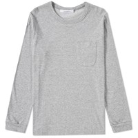 Nanamica Long Sleeve Pocket Tee Grey