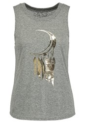 Onzie Nama Vest Heather Gray Mottled Grey