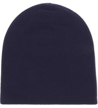 Johnstons Reversible Cashmere Beanie British Blue Provence