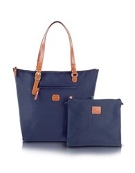 Bric's X Bag Large Foldable Shopper Blue