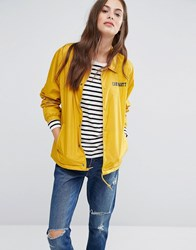 Carhartt Wip Oversized College Coach Jacket With Front Logo Yellow