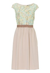 Betty Barclay Floral Cut Out Dress Beige
