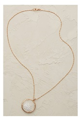 Catherine Weitzman Snow Crystal Necklace Pink