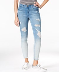 Tinseltown Juniors' Ripped Cropped Skinny Jeans Chloe Ombre
