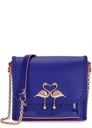 Sophia Webster Claudie Major Medium Leather Shoulder Bag Bright Blue