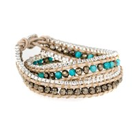 Code Love Morse Code Double Wrap Chain Bracelet Multi