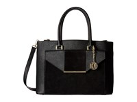 Dkny Bryant Park Saffiano Tote W Detachable Shoulder Strap Black Black Satchel Handbags