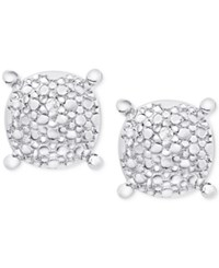 Victoria Townsend Diamond Accent Pebble Look Round Stud Earrings In Sterling Silver