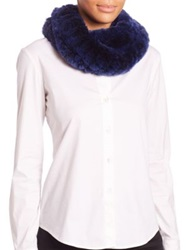 Surell Sheared Rabbit Fur Infinity Scarf Blackberry