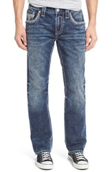 Rock Revival Men's Straight Fit Jeans Acid Blue
