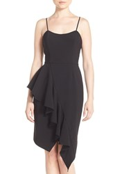 Jay Godfrey Women's 'Romeo' Asymmetrical Ruffle Sheath Dress Black