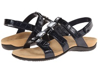 Vionic With Orthaheel Technology Amber Navy Croco Patent Women's Sandals