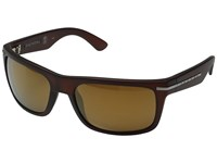Kaenon Burnet Gold Coast Brown 12 Polarized Gold Mirror Sport Sunglasses Black