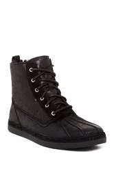 Ugg Alastair Genuine Sheepskin Lace Up Boot Black