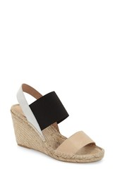 Women's Charles David 'Odessa' Espadrille Wedge Sandal Natural White Leather