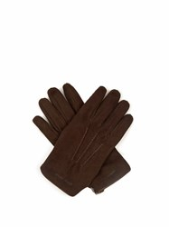 Giorgio Armani Suede Gloves Brown