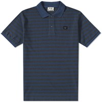 Acne Studios Kolby Stripe Polo Blue