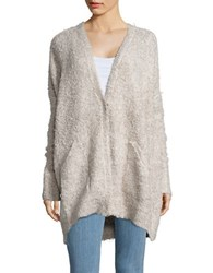 Free People Chunky Knit Oversized Cardigan Ivory
