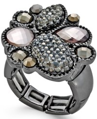 Styleandco. Style And Co. Hematite Tone Boldstone Ring Only At Macy's