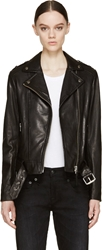 Mackage Black Washed Leather Florica Jacket