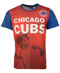 Forever Collectibles Men's Kris Bryant Chicago Cubs Player Sublimated T Shirt Royalblue Red