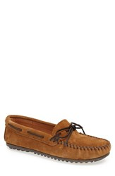 Men's Minnetonka Suede Moccasin Dusty Brown