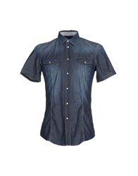 Ice Iceberg Denim Denim Shirts Men Blue