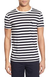 Men's Burberry The Britain Nautical Stripe T Shirt