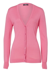 Basler Finely Knitted Jacket With Silk Powder Pink