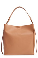 Allsaints 'Paradise North South' Calfskin Leather Tote Brown Light Caramel