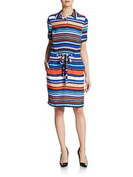 Marc New York Striped Drawstring Shirtdress Multi Stripe