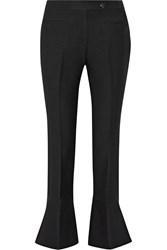 Fendi Wool And Silk Blend Flared Pants Black