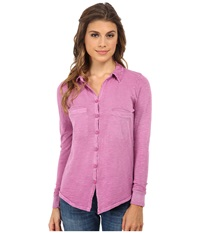 Alternative Apparel Slub Everyday Button Up Shirt Sour Grape Women's Long Sleeve Button Up Purple